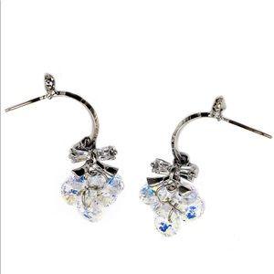 Lovely silver swarovski crystal earrings